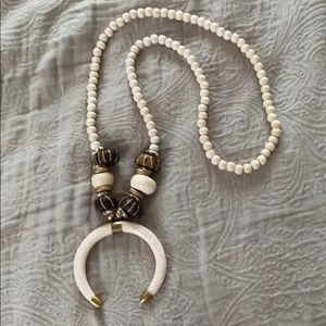 Handmade Bead & Tusk Necklace